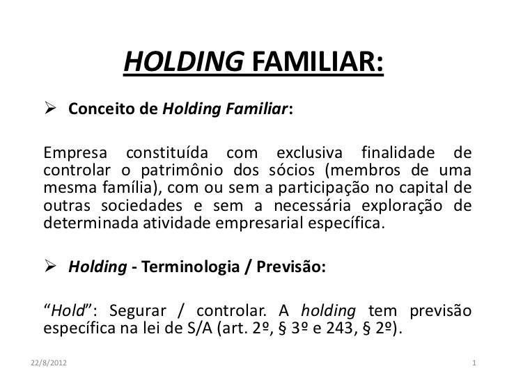 Holding Familiar 1 728 - Porto Lemes - As vantagens tributárias na constituição de holdings patrimoniais